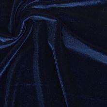 Navy Stretch Spandex Velvet Fabric 145cm Wide